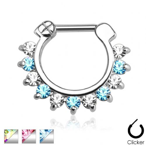 Mixed Colour Gem Septum Clicker